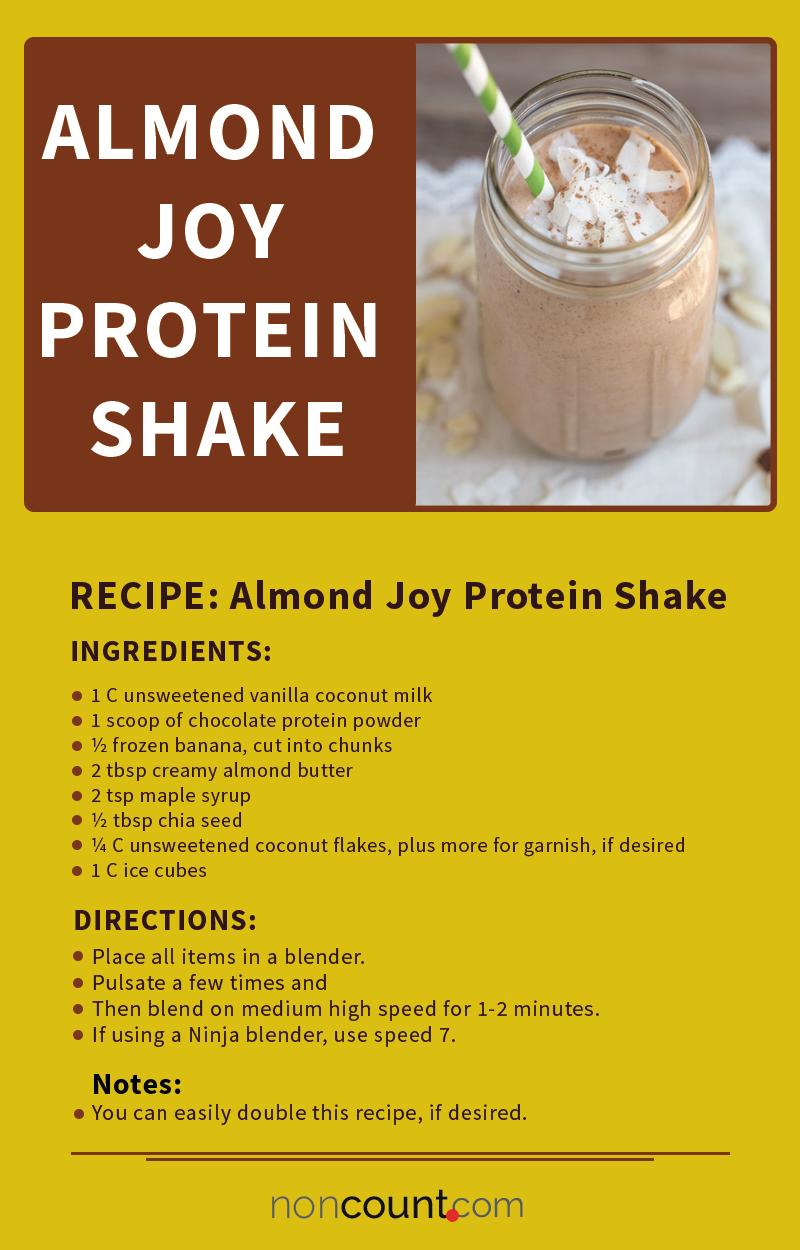 Almond Joy Protein Shake (Dairy Free, Vegan)