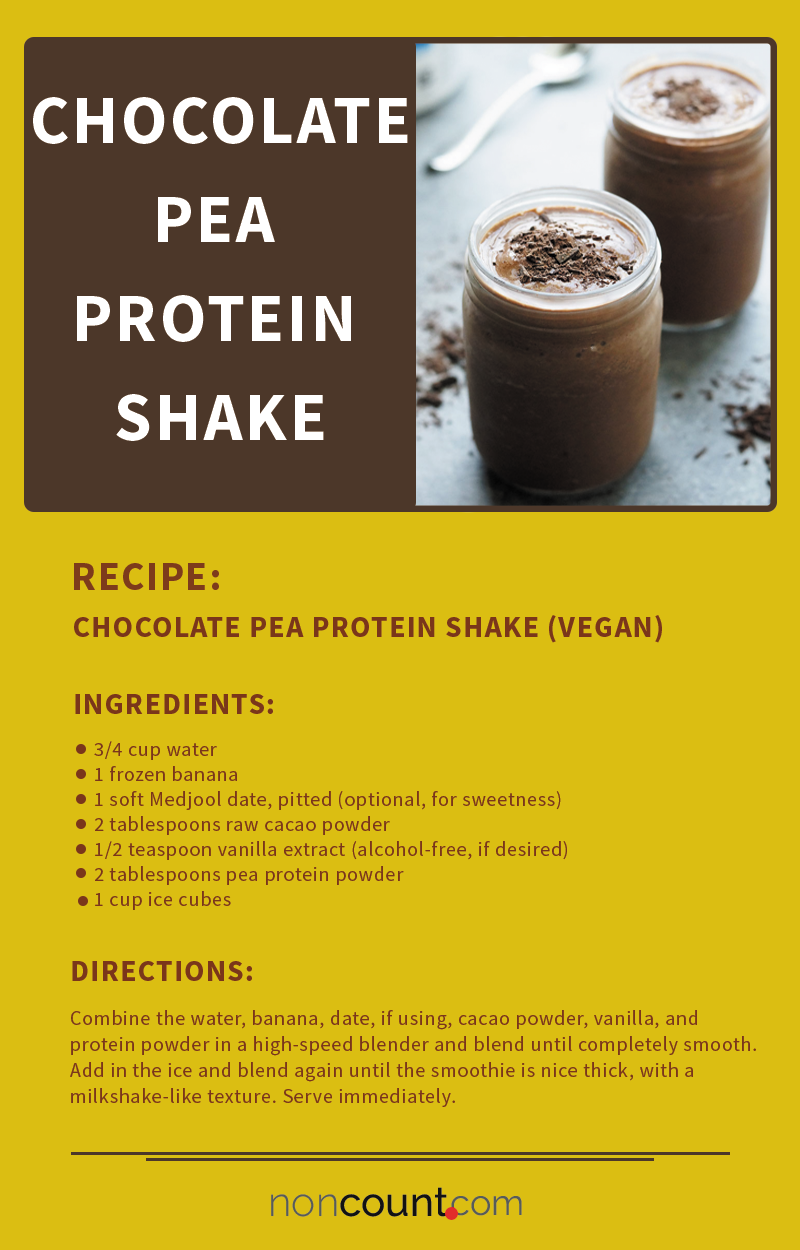 Chocolate Pea Protein Shake (Vegan)