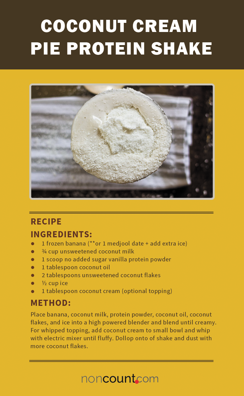 Coconut Cream Pie Vegan Protein Shake