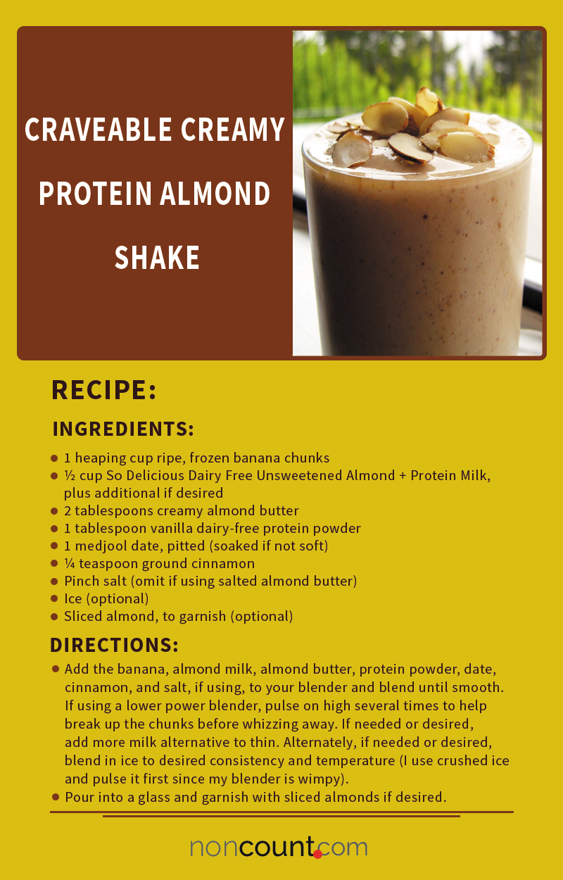 Craveable Creamy Protein Almond Vegan Shake