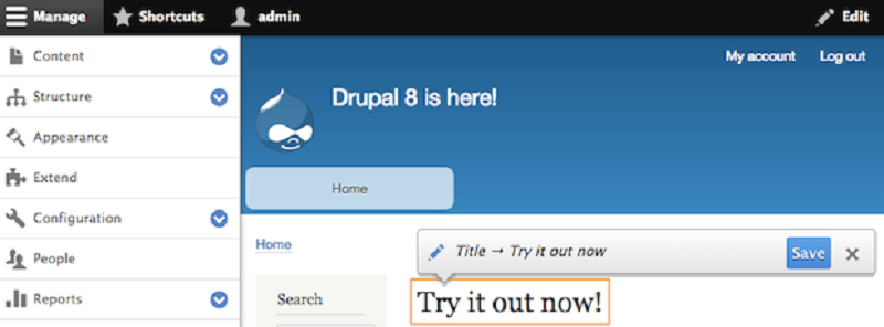 Drupal- Free Blogging Platform
