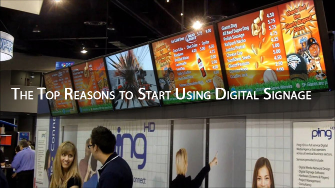 The Top Reasons to Start Using Digital Signage
