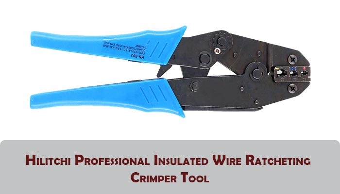 Hilitchi Professional Insulated Wire Ratcheting Crimper Tool