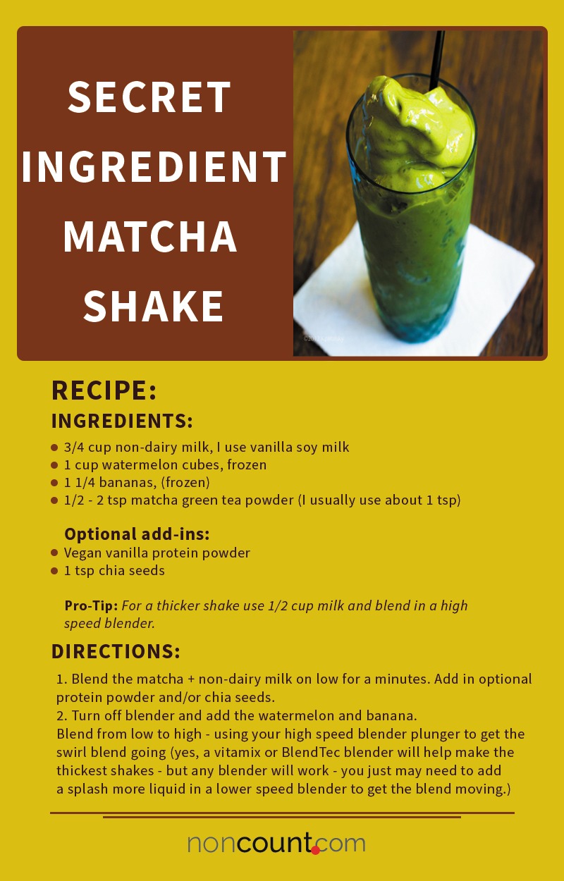Secret Ingredient Matcha Vegan Shake 2.0