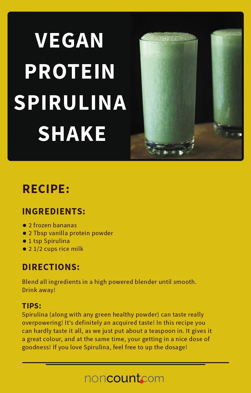 Vegan Protein Spirulina Shake