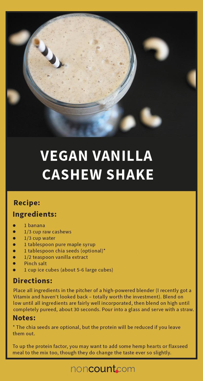 Vegan Vanilla Cashew Shake