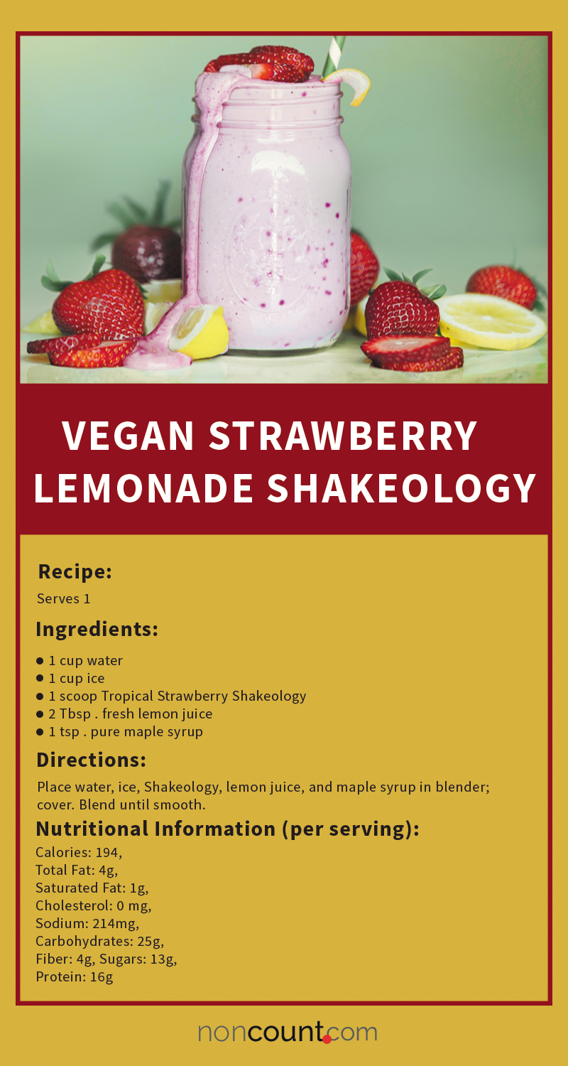 Vegan Strawberry Lemonade Shakeology