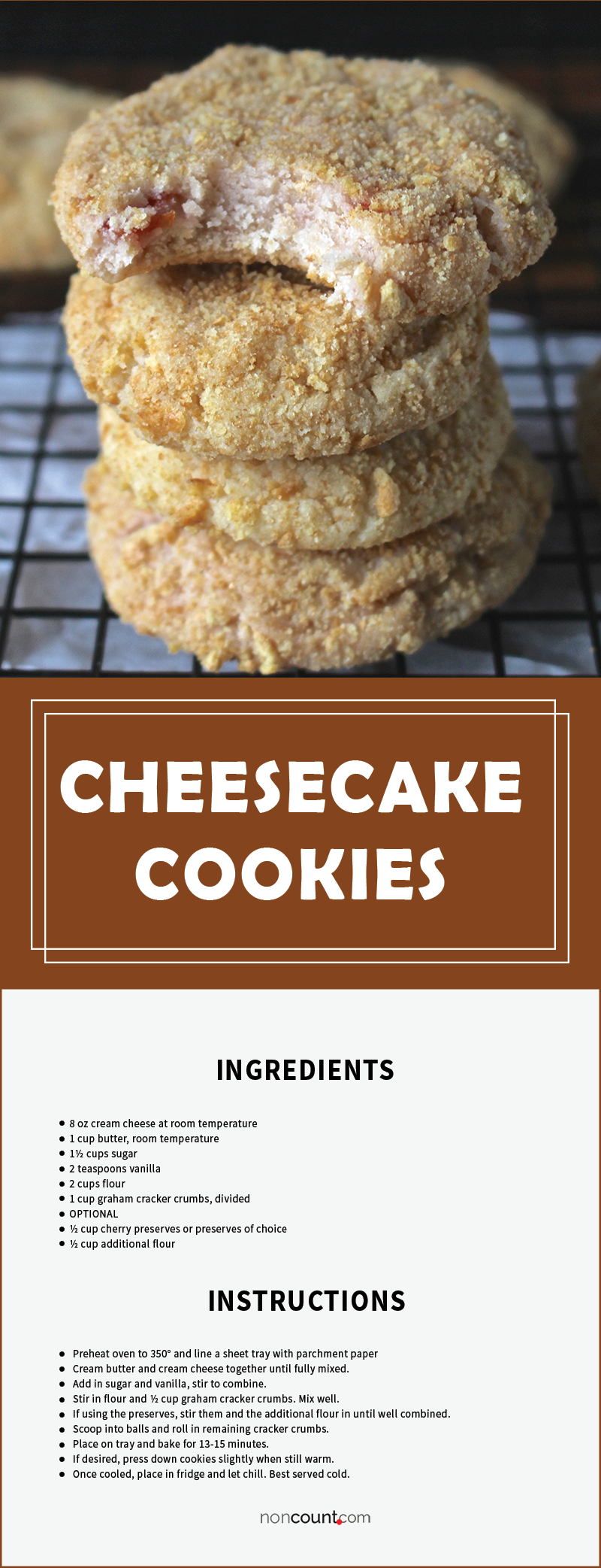 Cheesecake Cookies Recipe Image
