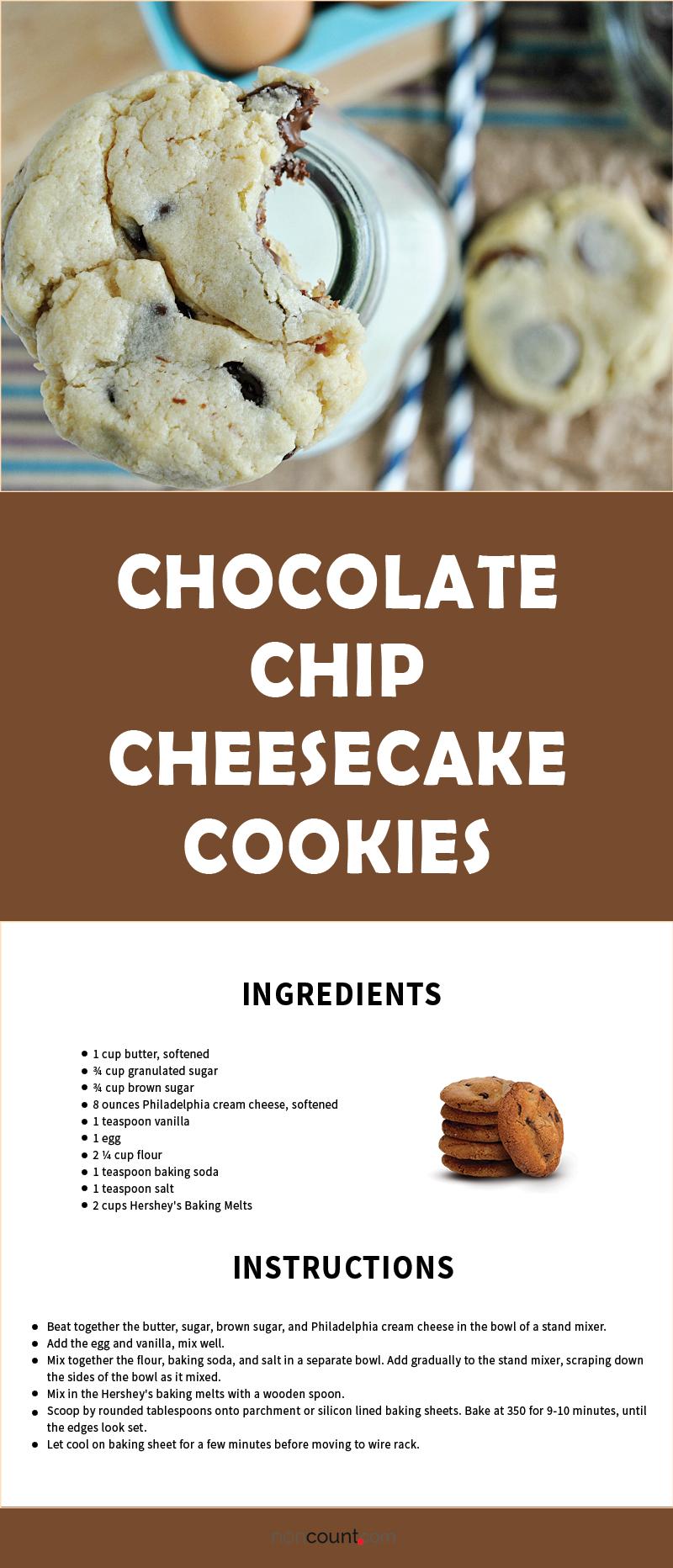 Chocolate Chip Cheesecake Cookies Recipe Image