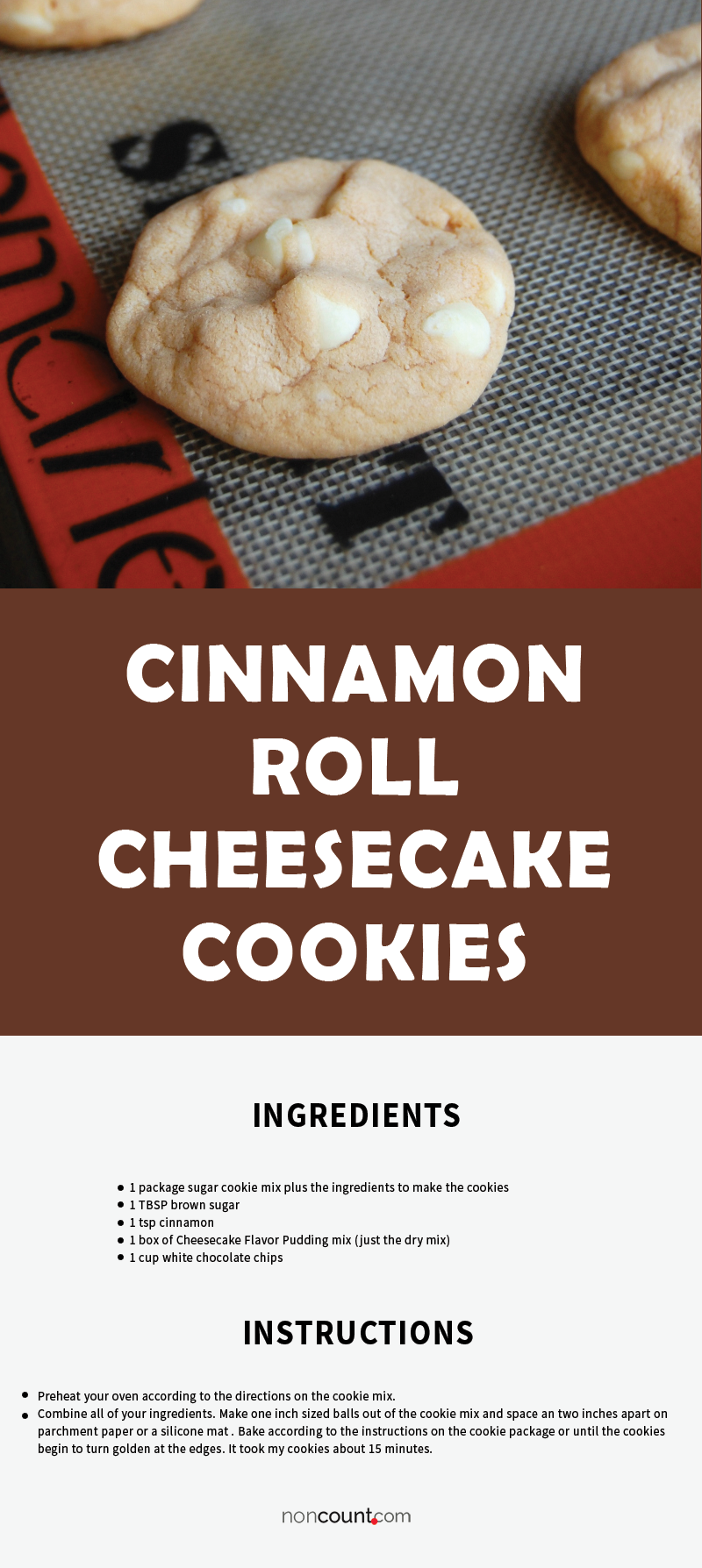 Cinnamon Roll Cheesecake Cookies Recipe Image