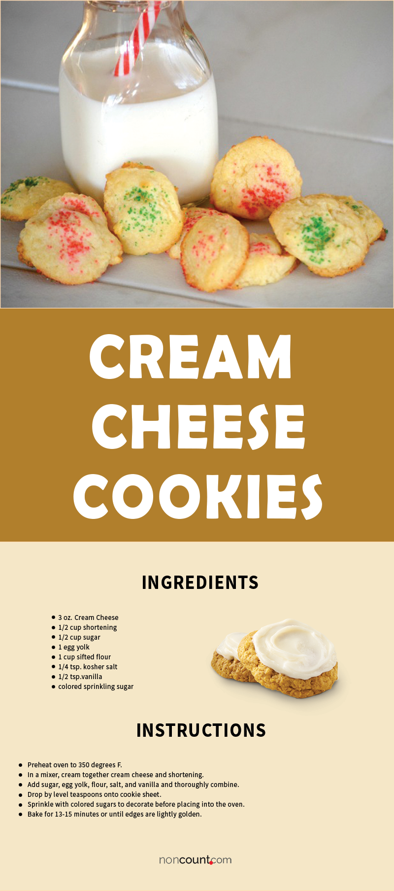 Cream Cheese Cookies Recipe Image