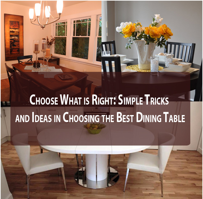 Choose What is Right: Simple Tricks and Ideas in Choosing the Best