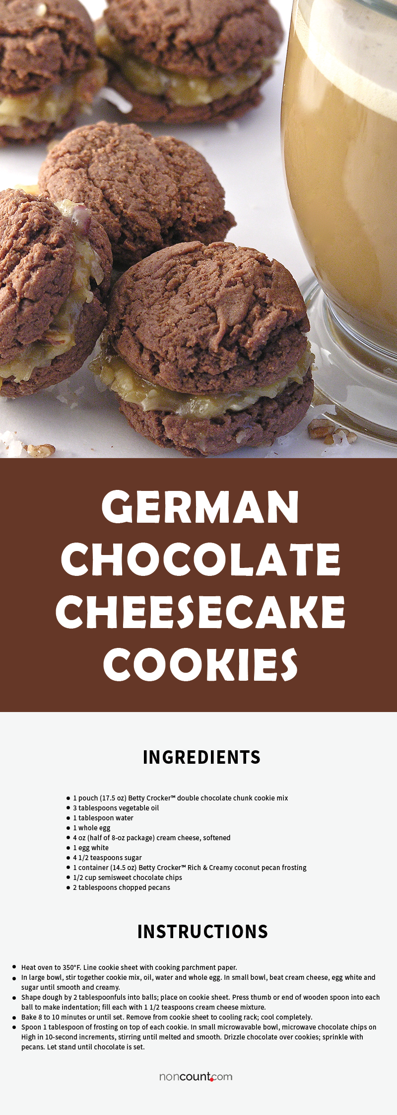 Recipe Image of German Chocolate Cheesecake Cookies