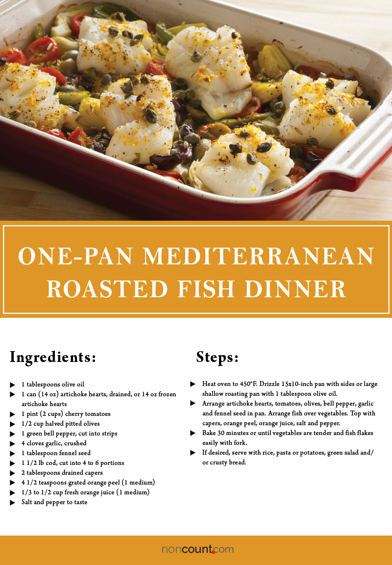One-Pan Mediterranean Roasted Fish Dinner Seafood Recipes