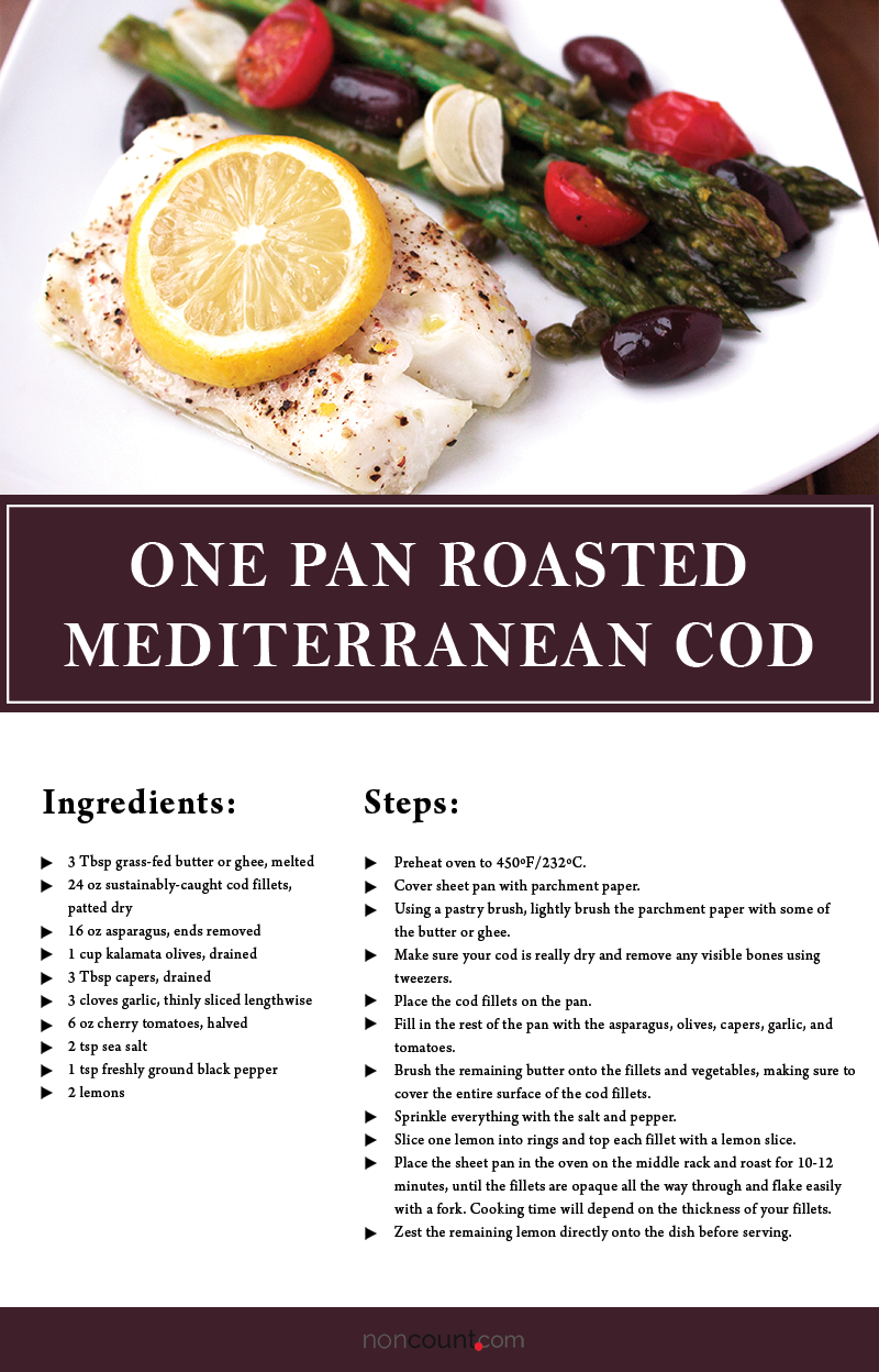 One Pan Roasted Mediterranean Cod