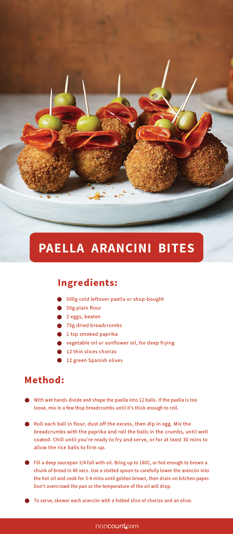 Paella Arancini Bites Party Food Recipe