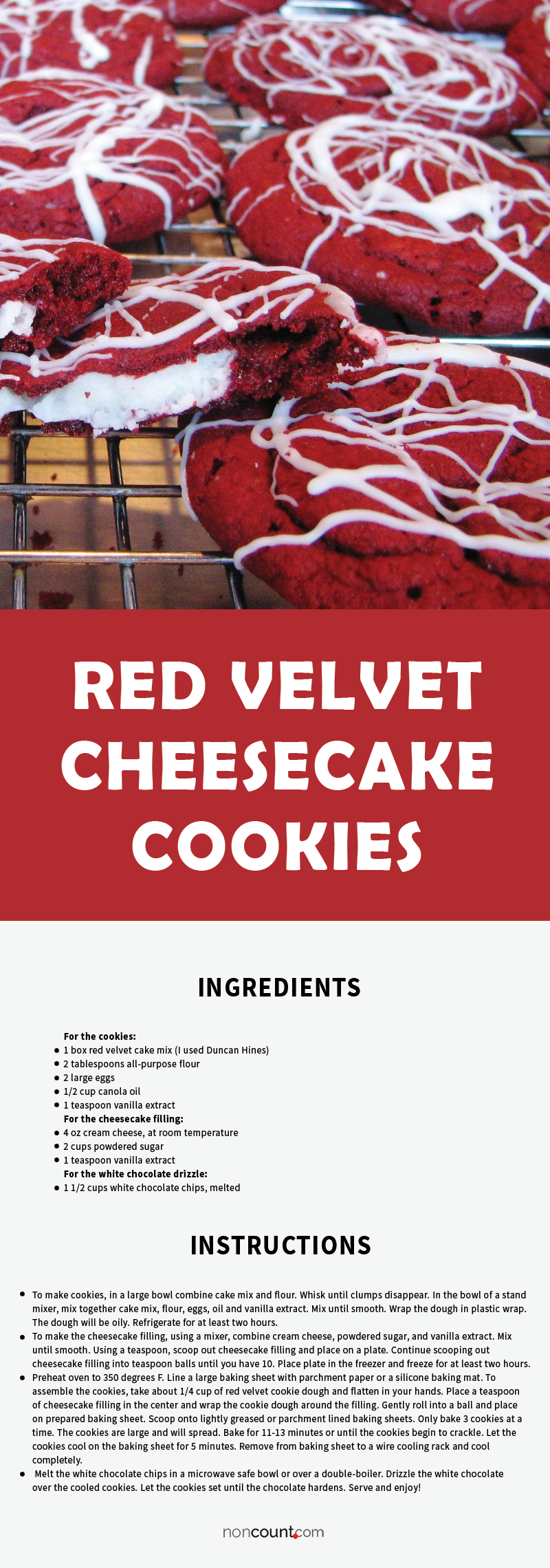 Red Velvet Cheesecake Cookies Recipe Image