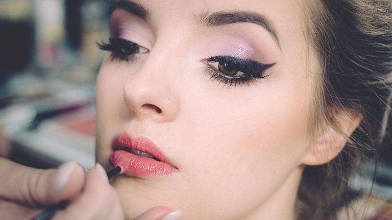 skip heavy makeup