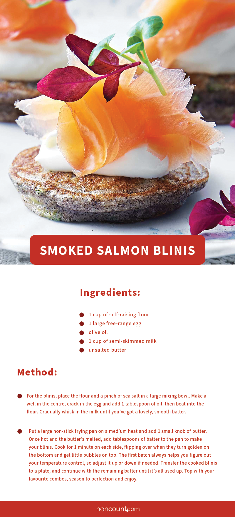 Smoked Salmon Blinis Party Food Recipe