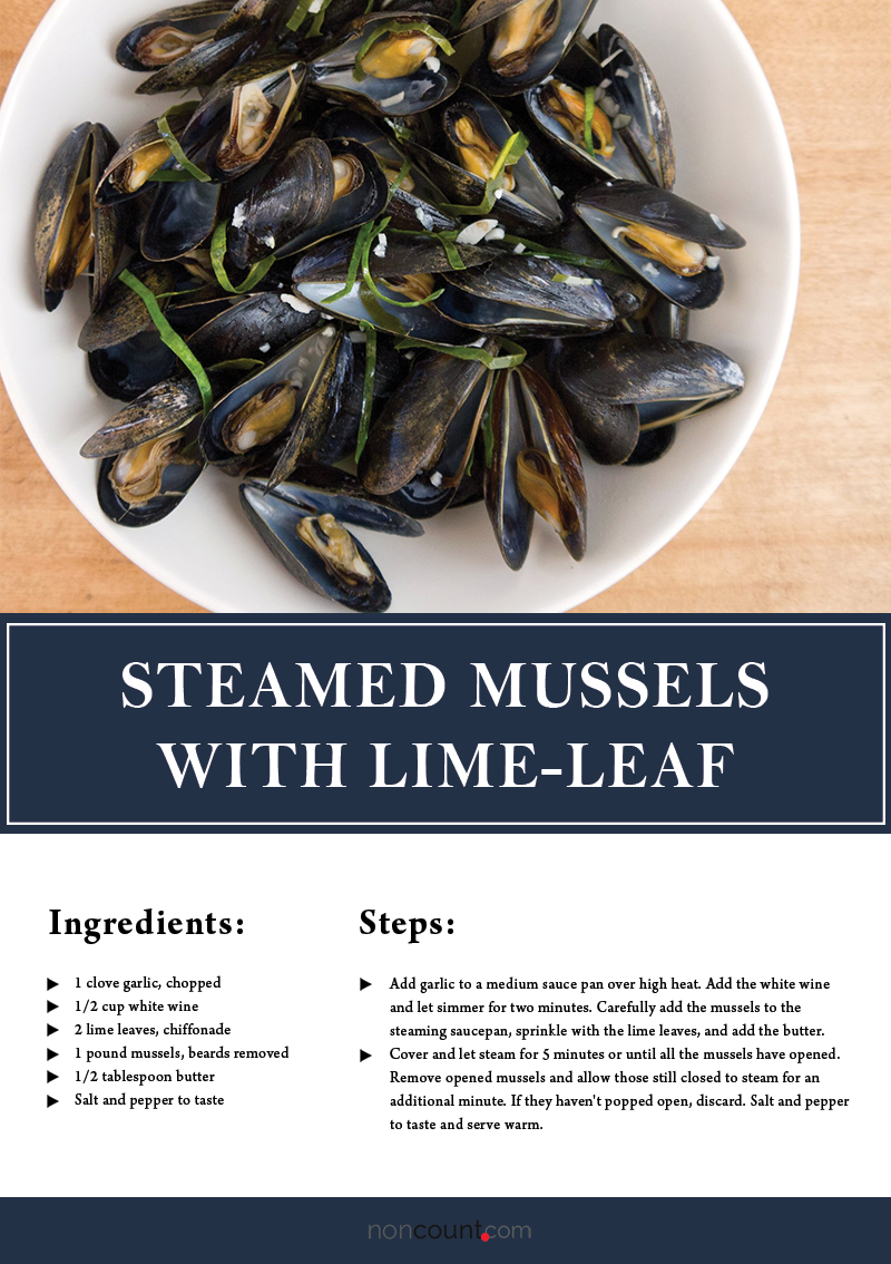 Steamed Mussels with Lime-Leaf Recipe Image