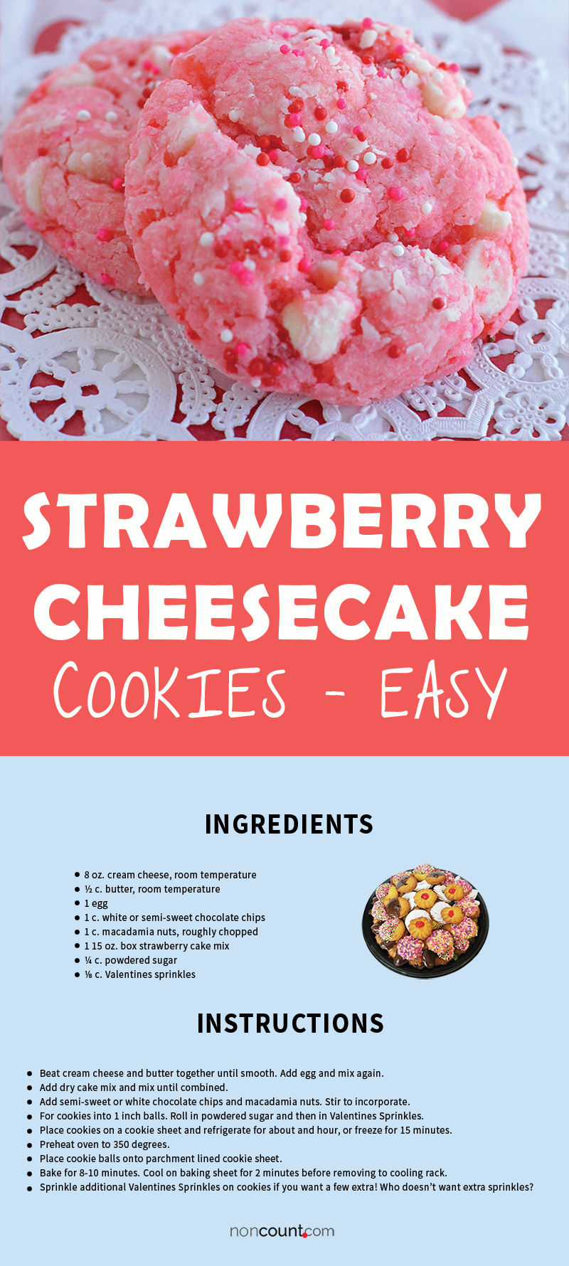 Recipe Image of Strawberry Cheesecake Cookies – Easy