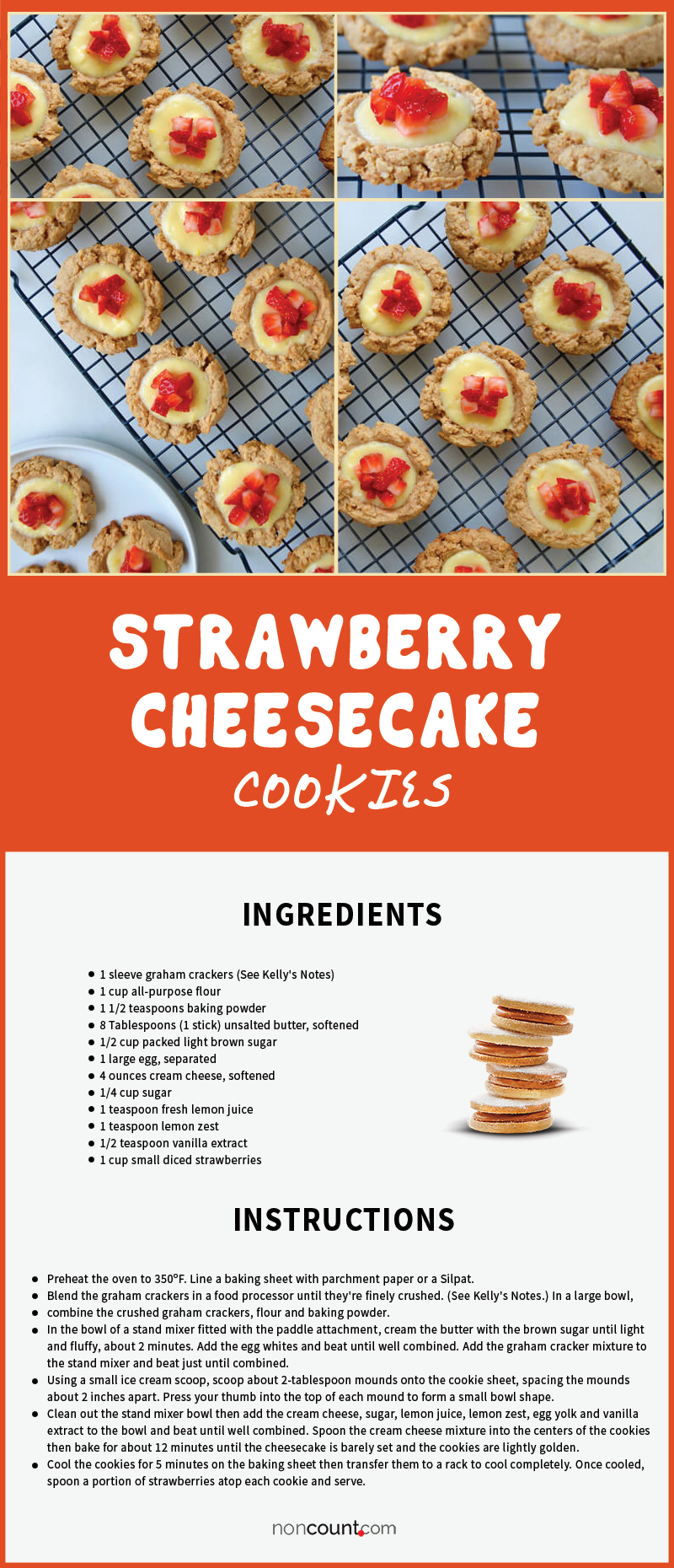 Strawberry Cheesecake Cookies Recipe Details Image