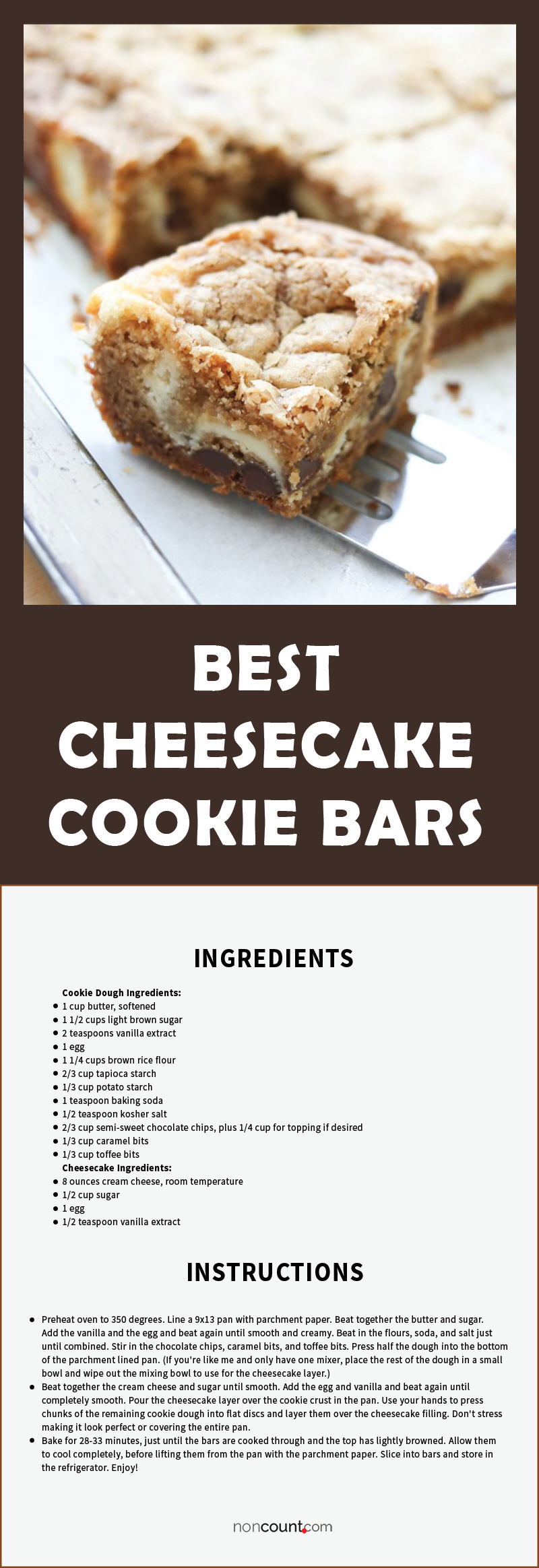 The Best Cheesecake Cookie Bars {traditional and gluten free recipes} details image